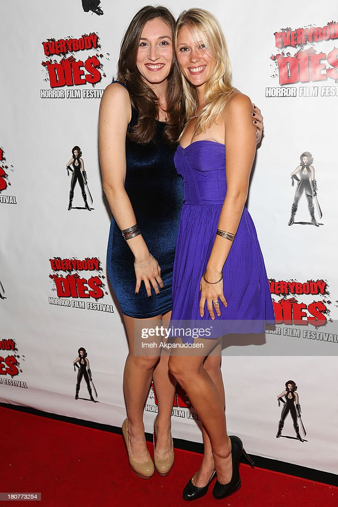 Actresses Elizabeth Guest (L) and Jen Araki attend the premiere of 'Kill Her, Not Me' during the closing night of the Everybody Dies Film Festival on September 15, 2013 in Brea, California.