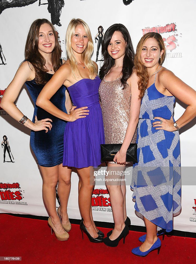 Actresses Elizabeth Guest, Jen Araki, Amanda Tudesco, and Elizabeth Siegel attend the premiere of 'Kill Her, Not Me' during the closing night of the Everybody Dies Film Festival on September 15, 2013 in Brea, California.