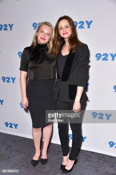 Actresses Elizabeth Moss and Alexis Bledel attend the presentation of Hulu's 'The Handmaid's Tale' at 92nd Street Y on May 10 2017 in New York City