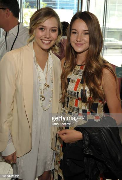 Actresses Elizabeth Olsen and Shailene Woodley attend Piaget at the 2012 Independent Spirit Awards Filmmaker Grant and Nominees Brunch held at BOA...