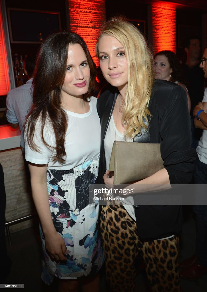 Actresses <a gi-track='captionPersonalityLinkClicked' href=/galleries/search?phrase=Elizabeth+Reaser&family=editorial&specificpeople=550324 ng-click='$event.stopPropagation()'>Elizabeth Reaser</a> and <a gi-track='captionPersonalityLinkClicked' href=/galleries/search?phrase=Casey+LaBow&family=editorial&specificpeople=6704981 ng-click='$event.stopPropagation()'>Casey LaBow</a> attend 'The Twilight Saga: Breaking Dawn Part 2' VIP Comic-Con Celebration Sponsored by Fandango at Float in the Hard Rock Hotel on July 11, 2012 in San Diego, California.