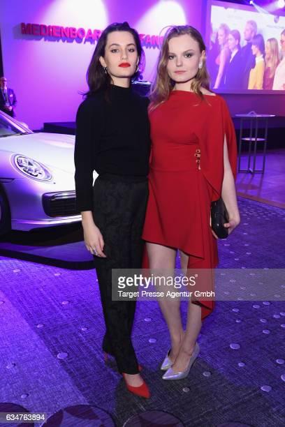 Actresses Ella Rumpf and Maria Dragus attend the Medienboard BerlinBrandenburg Reception during the 67th Berlinale International Film Festival Berlin...