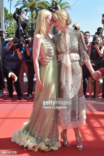 Actresses Elle Fanning and Nicole Kidman attend the 'How To Talk To Girls At Parties' screening during the 70th annual Cannes Film Festival at on May...