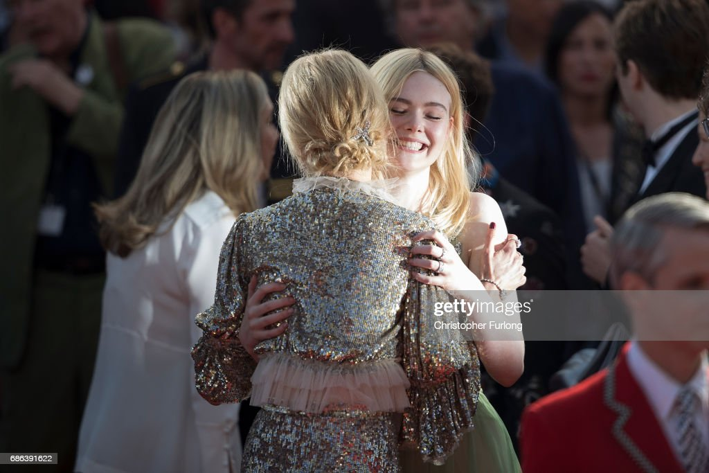 Actresses Elle Fanning and Nicole Kidman embrace after the 'How To Talk To Girls At Parties' screening during the 70th annual Cannes Film Festival at Palais des Festivals on May 21, 2017 in Cannes, France.Celebrities, fans and the movie world have descended on Cannes for this year's festival of the screen. For seventy years The Croisette Boulevard has always been the centre of athe place watch the rich and dandy and people from all walks of life to promenade.