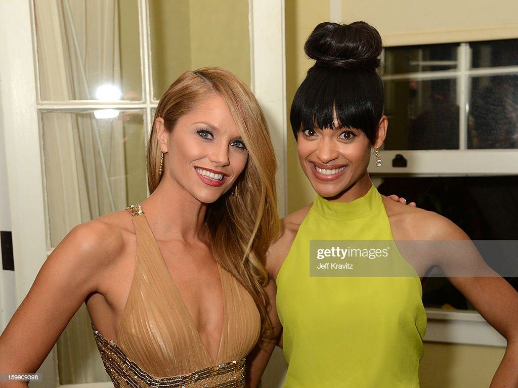 Actresses <a gi-track='captionPersonalityLinkClicked' href=/galleries/search?phrase=Ellen+Hollman&family=editorial&specificpeople=5295263 ng-click='$event.stopPropagation()'>Ellen Hollman</a> (L) and Cynthia Addai-Robinson attend the 'Spartacus: War Of The Damned' premiere after party on January 22, 2013 in Los Angeles, California.