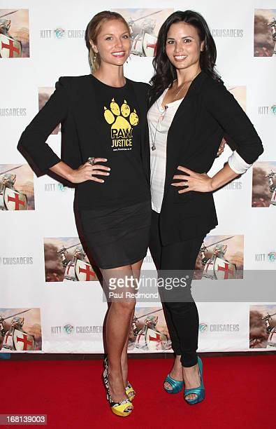 Actresses Ellen Hollman and Katrina Law attend the 'Cinco De Gato' charity event at La Descarga on May 5 2013 in Hollywood California
