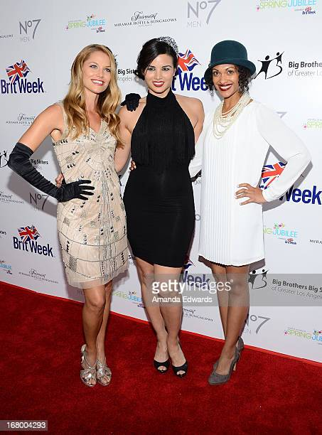Actresses Ellen Hollman Katrina Law and Cynthia AddaiRobinson arrive at the 'Downton Abbey' Britweek celebration at the Fairmont Miramar Hotel on May...