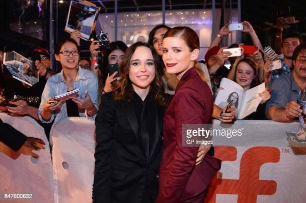 Actresses Ellen Page and Kate Mara attend the 'My Days Of Mercy' premiere during the 2017 Toronto International Film Festival at Roy Thomson Hall on...