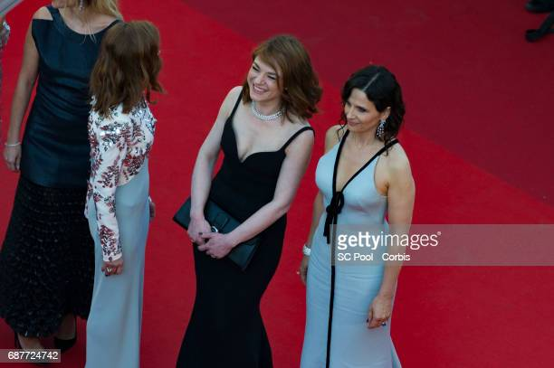 Actresses Elodie Bouchez Isabelle Huppert Emilie Dequenne and Juliette Binoche attend the 70th Anniversary of the 70th annual Cannes Film Festival at...