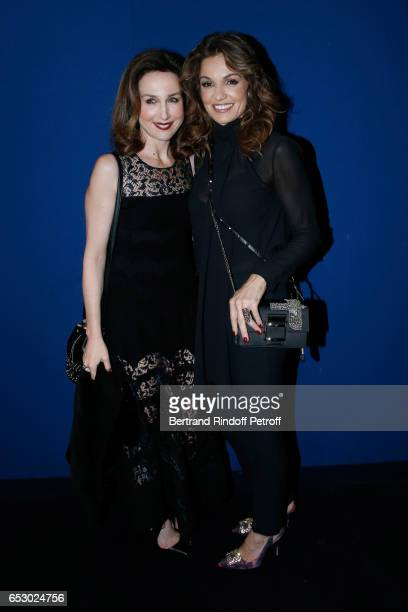 Actresses Elsa Zylberstein and Nadia Fares attend the 'Chacun sa vie' Paris Premiere at Cinema UGC Normandie on March 13 2017 in Paris France