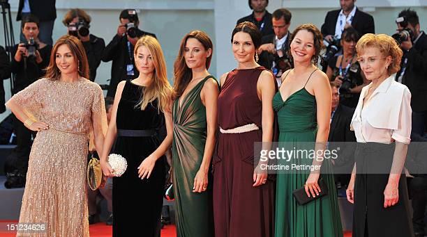 Actresses Elsa ZylbersteinVictoria Guerra Maria Joao Bastos Soraia Chaves Joana de VeronaMarisa Parede attend the 'Lines Of Wellington' Premiere...