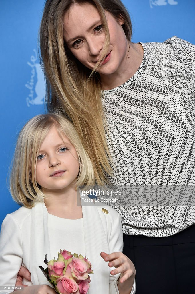 Actresses Emilia Pieske and <a gi-track='captionPersonalityLinkClicked' href=/galleries/search?phrase=Julia+Jentsch&family=editorial&specificpeople=217557 ng-click='$event.stopPropagation()'>Julia Jentsch</a> attend the '24 Wochen' photo call during the 66th Berlinale International Film Festival Berlin at Grand Hyatt Hotel on February 14, 2016 in Berlin, Germany.