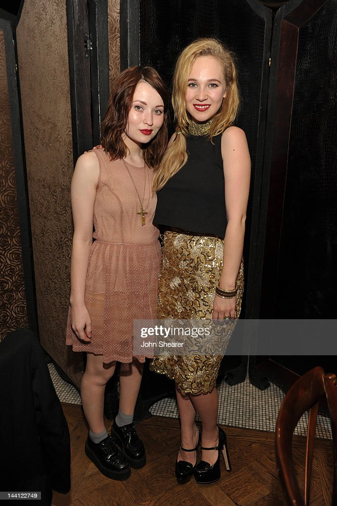 Actresses Emily Browning and Juno Temple attend NYLON Magazine And Tommy Girl Celebrate The Annual May Young Hollywood Issue - Dinner at Hollywood Roosevelt Hotel on May 9, 2012 in Hollywood, California.