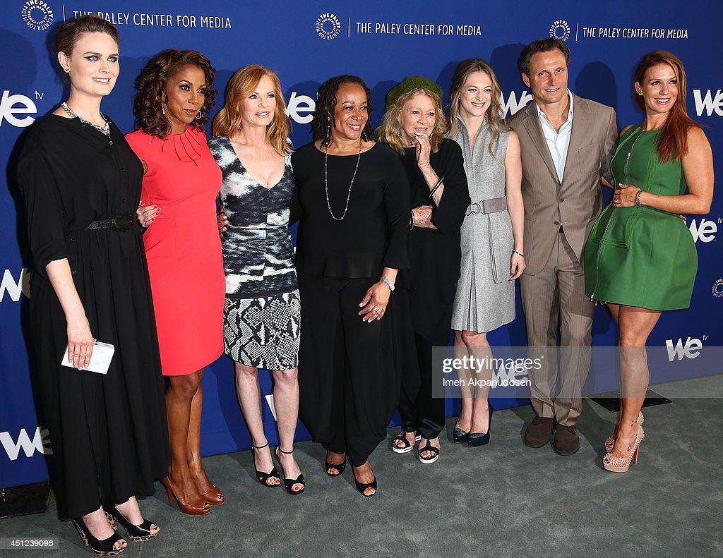Actresses Emily Deschanel Holly Robinson Peete Marg Helgenberger S Epatha Merkerson Angie Dickinson Marin Ireland director/actor Tony Goldwyn and...