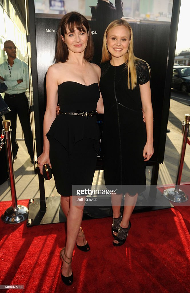 Actresses <a gi-track='captionPersonalityLinkClicked' href=/galleries/search?phrase=Emily+Mortimer&family=editorial&specificpeople=202561 ng-click='$event.stopPropagation()'>Emily Mortimer</a> and <a gi-track='captionPersonalityLinkClicked' href=/galleries/search?phrase=Alison+Pill&family=editorial&specificpeople=585936 ng-click='$event.stopPropagation()'>Alison Pill</a> arrive at HBO's New Series 'Newsroom' Los Angeles Premiere at ArcLight Cinemas Cinerama Dome on June 20, 2012 in Hollywood, California.