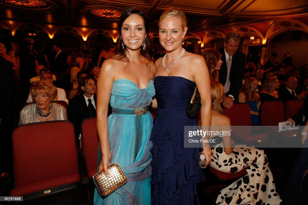 Actresses Emily O'Brien and Sharon Case attend the 36th Annual Daytime Emmy Awards at The Orpheum Theatre on August 30, 2009 in Los Angeles, California.