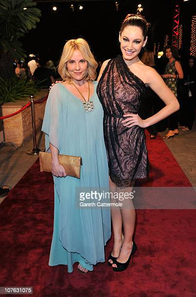 Actresses Emma Caulfield and actress Kelly Brook attend the 'Cairo Exit' premiere during day five of the 7th Annual Dubai International Film Festival...