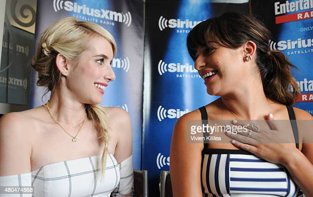 Actresses Emma Roberts and Lea Michele attend SiriusXM's Entertainment Weekly Radio Channel Broadcasts From ComicCon 2015 at Hard Rock Hotel San...