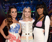 Actresses Emma Roberts Lea Michele and Keke Palmer attend the Teen Choice Awards 2015 at the USC Galen Center on August 16 2015 in Los Angeles...