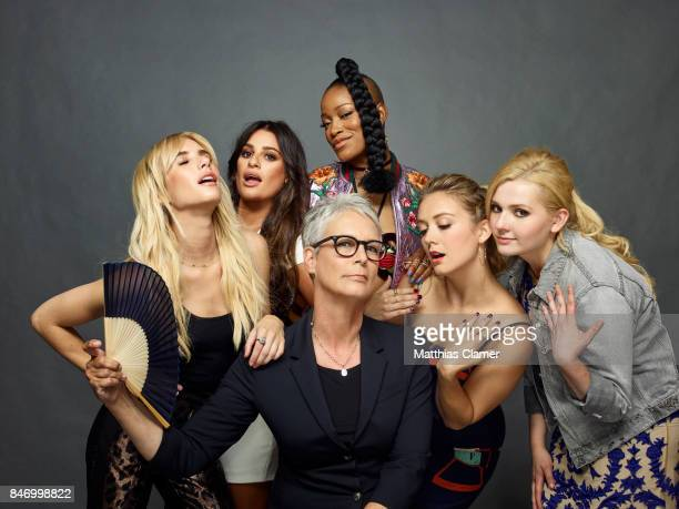 Actresses Emma Roberts Lea Michele Keke Palmer Billie Lourd Abigail Breslin and Jamie Lee Curtis from 'Scream Queens' are photographed for...