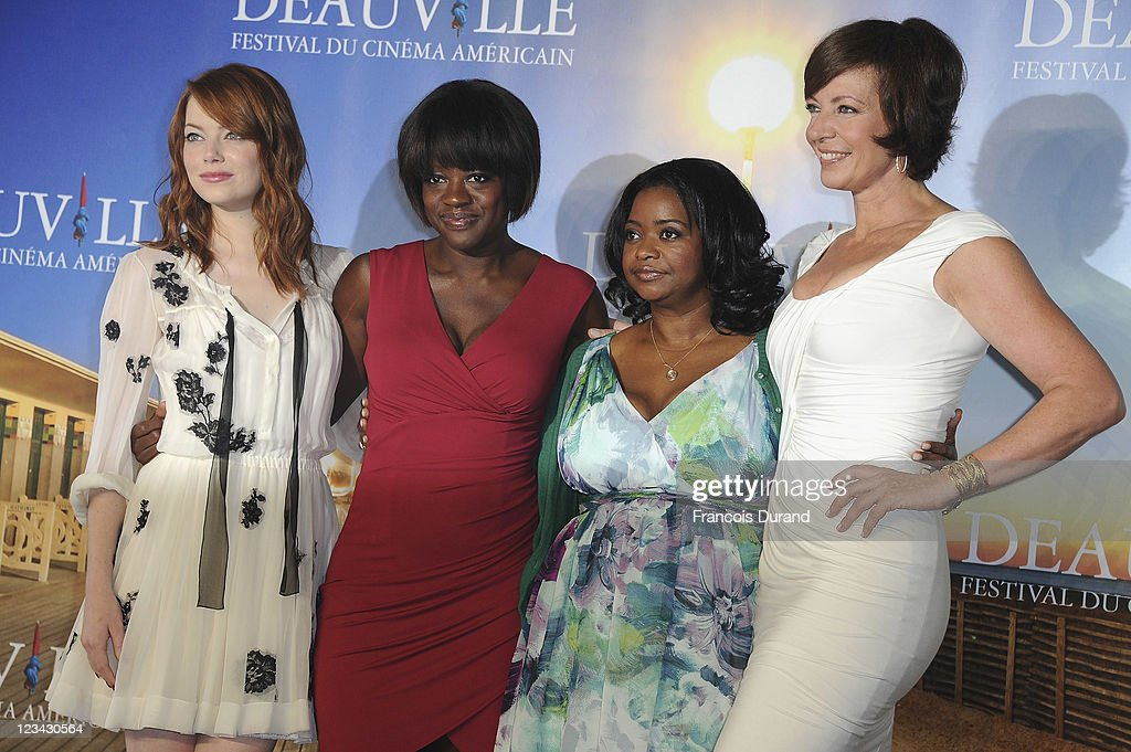 Actresses Emma Stone, Viola Davis, Octavia Spencer and Allison Janney pose at 'The Help' Photocall during 37th Deauville American Film Festival on September 3, 2011 in Deauville, France.