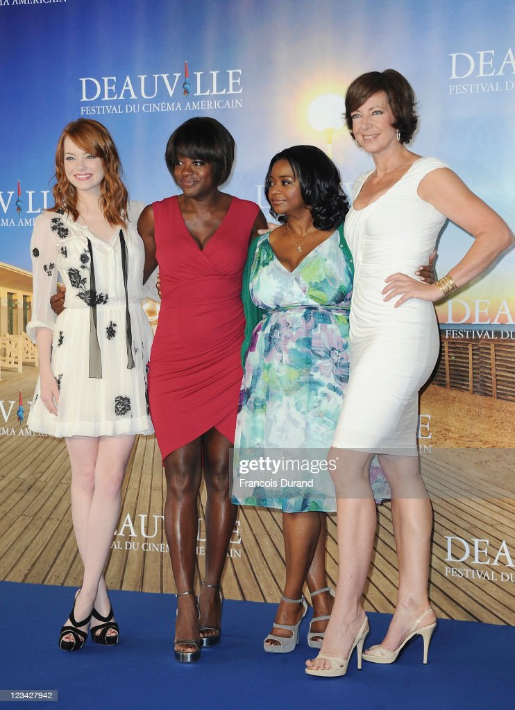 Actresses Emma Stone,Viola Davis, Octavia Spencer and Allison Janney pose at 'The Help' Photocall during 37th Deauville American Film Festival on September 3, 2011 in Deauville, France.