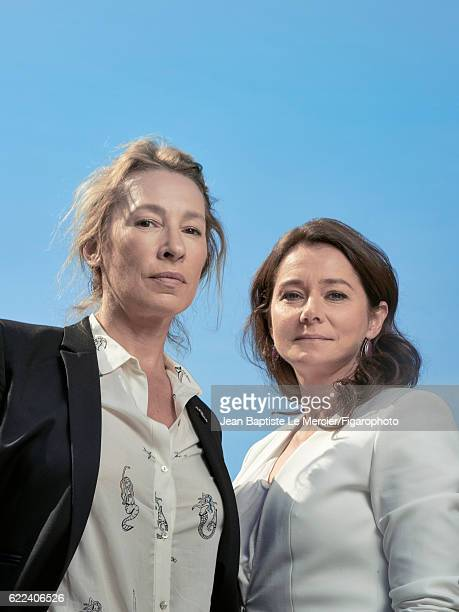 Actresses Emmanuelle Bercot and Sidse Babett Knudsen are photographed for Madame Figaro on September 8 2016 at the Toronto Film Festival in Toronto...