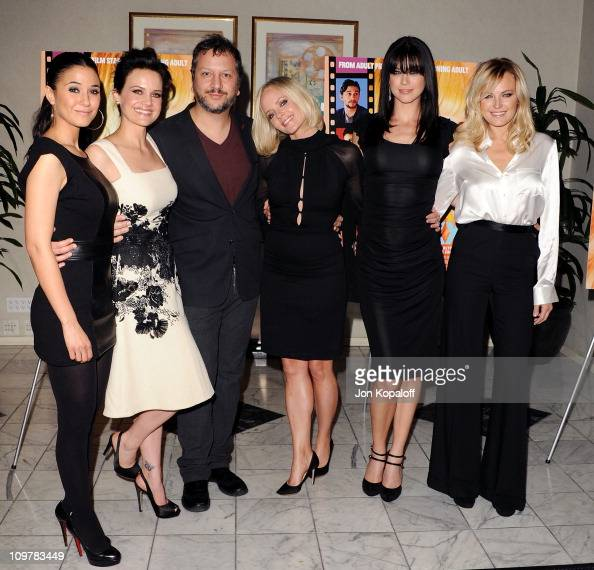 Actresses Emmanuelle Chriqui Carla Gugino Director Sebastian Gutierrez Marley Shelton Adrianne Palicki and Malin Akerman arrive at the Los Angeles...