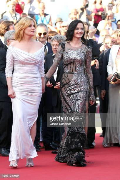 Actresses Emmanuelle Seigner and Eva Green attend the 'Based On A True Story' screening during the 70th annual Cannes Film Festival at Palais des...