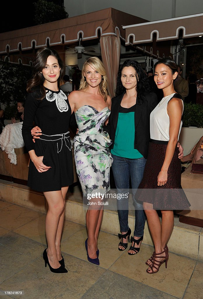 Actresses Emmy Rossum, Ali Larter, Rain Phoenix and Jamie Chung celebrate the release of Ali Larter's new cookbook 'Kitchen Revelry' with Perrier-Jouet at Sunset Tower on August 27, 2013 in West Hollywood, California.