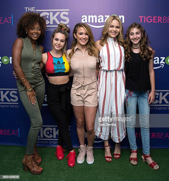 Actresses Emyri Crutchfield Brec Bassinger Sixx Orange Isabella Acres and Sophia Mitri Schloss attend Amazon and Tiger Beat Magazines premiere of...