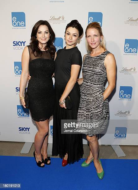 Actresses Erica Durance Julia Taylor Ross and Michelle Nolden arrive at the Entertainment One Celebrates 29 Films At TIFF during the 2013 Toronto...