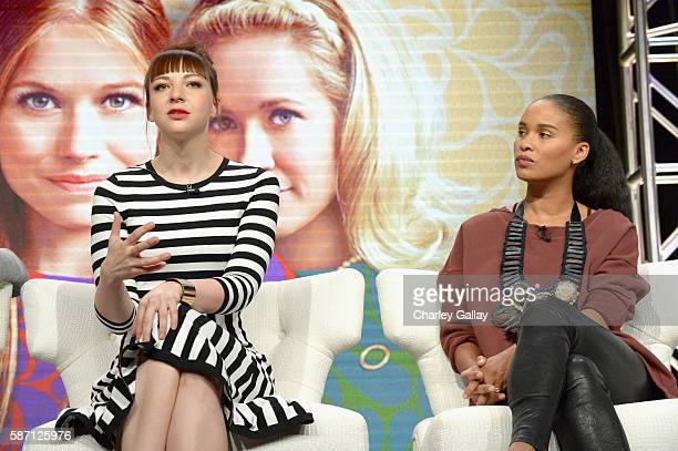 Actresses Erin Darke and Joy Bryant attend the Amazon 2016 Summer TCA Press Tour at The Beverly Hilton Hotel on August 7 2016 in Beverly Hills...