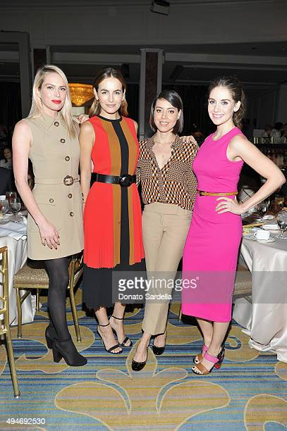 Actresses Erin Foster Camilla Belle Aubrey Plaza and Alison Brie attend Michael Kors Presents The Museum Of Contemporary Art's Distinguished Women In...