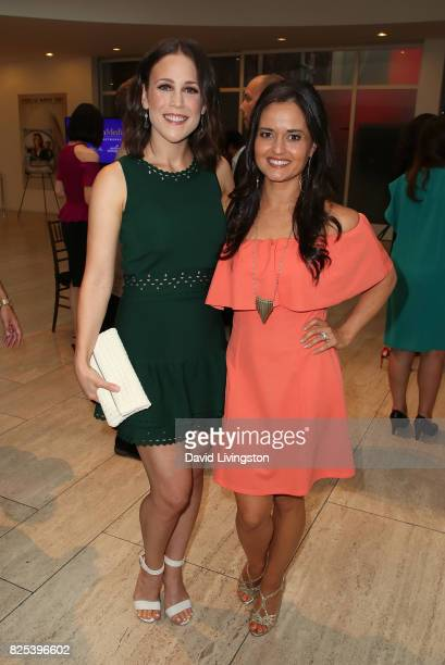Actresses Erin Krakow and Danica McKellar attend the premiere of Hallmark Movies Mysteries' 'Garage Sale Mystery' at The Paley Center for Media on...
