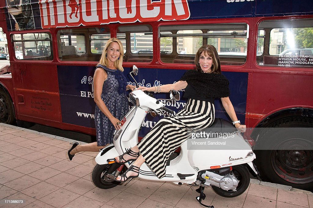 Actresses Erin Murphy and Kate Linder attend the world premiere of musical 'ModRock' at El Portal Theatre on June 23 2013 in North Hollywood...