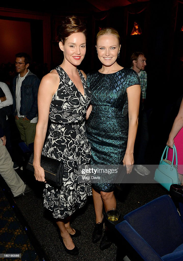 Actresses Erinn Hayes (L) and <a gi-track='captionPersonalityLinkClicked' href=/galleries/search?phrase=Malin+Akerman&family=editorial&specificpeople=598245 ng-click='$event.stopPropagation()'>Malin Akerman</a> attend the 'Childrens Hospital' and 'NTSF:SD:SUV' screening event at the Vista Theatre on September 9, 2013 in Los Angeles, California. 24049_001_MD_0207.JPG