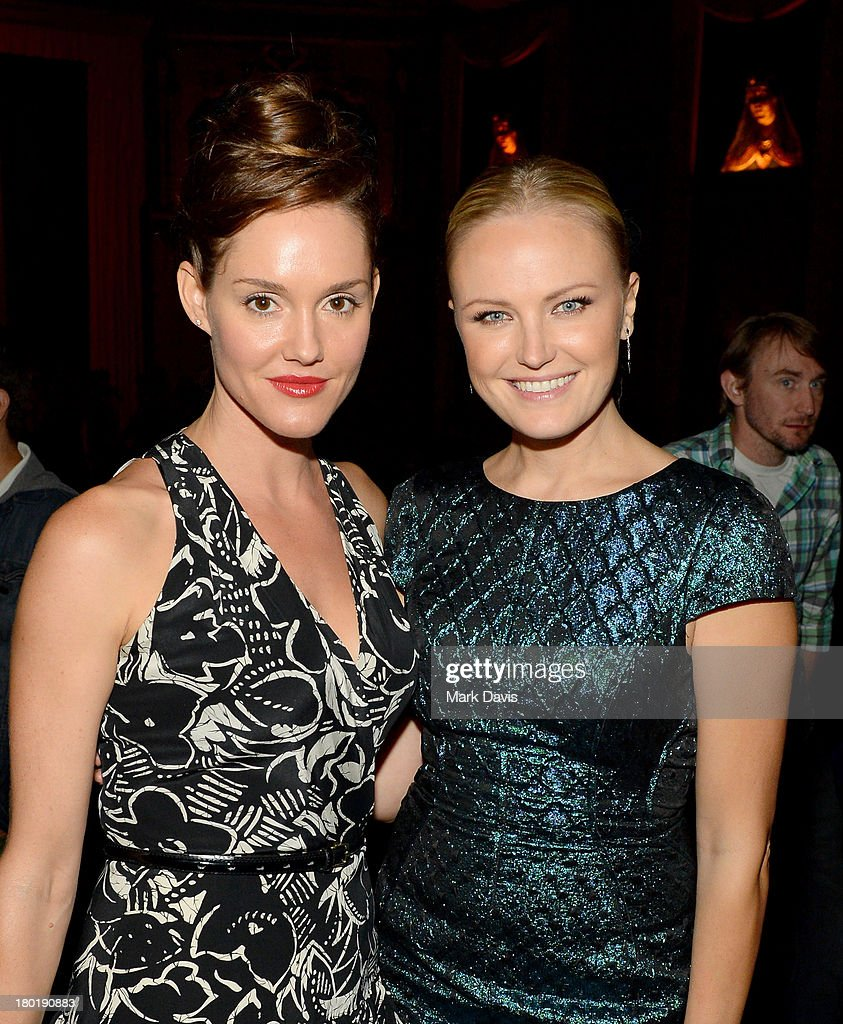Actresses Erinn Hayes (L) and Malin Akerman attend the 'Childrens Hospital' and 'NTSF:SD:SUV' screening event at the Vista Theatre on September 9, 2013 in Los Angeles, California. 24049_001_MD_0202.JPG