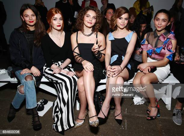 Actresses Esther Kim Katherine McNamara Camren Bicondova Sami Gayle and Rowan Blanchard attend the Milly show during New York Fashion Week on...
