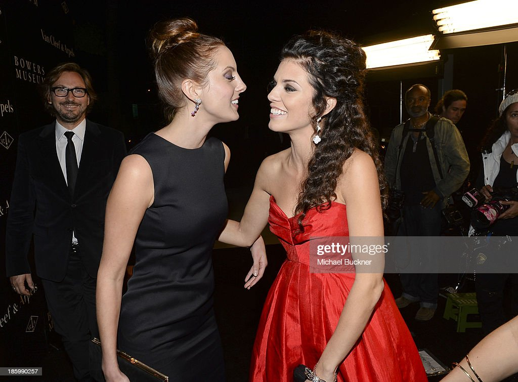 Actresses Eva Amurri and AnnaLynne McCord attend Van Cleef & Arpels at A Quest for Beauty: The Art Of Van Cleef & Arpels at The Bowers Museum on October 26, 2013 in Santa Ana, California.