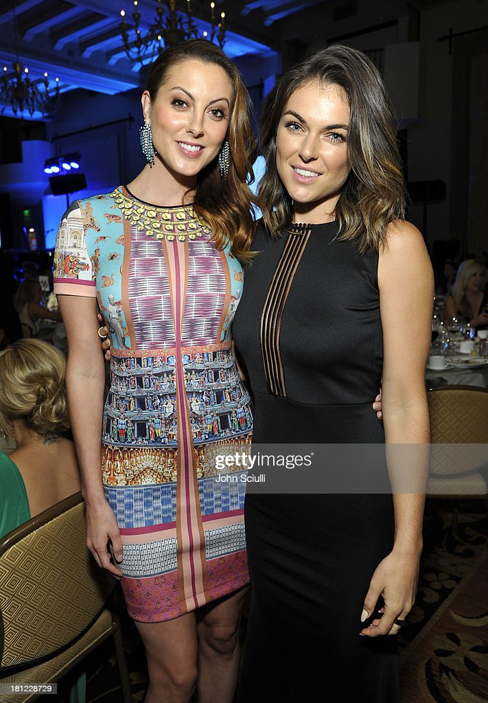Actresses <a gi-track='captionPersonalityLinkClicked' href=/galleries/search?phrase=Eva+Amurri&family=editorial&specificpeople=213733 ng-click='$event.stopPropagation()'>Eva Amurri</a> Martino (L) and <a gi-track='captionPersonalityLinkClicked' href=/galleries/search?phrase=Serinda+Swan&family=editorial&specificpeople=4388541 ng-click='$event.stopPropagation()'>Serinda Swan</a> attend Heifer International's 2nd Annual 'Beyond Hunger: A Place at the Table' to Help End World Hunger and Poverty at Montage Hotel on September 19, 2013 in Los Angeles, California.