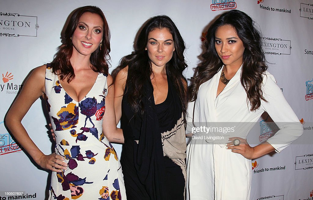 Actresses Eva Amurri Martino, Serinda Swan and Shay Mitchell attend Friends to Mankind's 2nd annual 18 For 18 charity event and fundraiser 'The Jump' benefitting the Somaly Mam Foundation at Lexington Social House on August 19, 2012 in Hollywood, California.