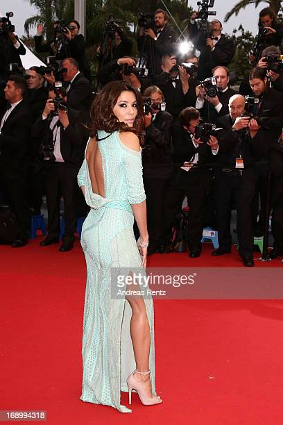 Actresses Eva Longoria attends the 'Jimmy P ' Premiere during the 66th Annual Cannes Film Festival at the Palais des Festivals on May 18 2013 in...
