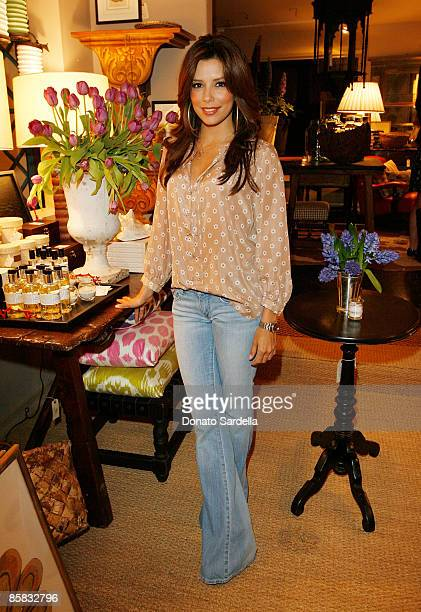 Actresses Eva Longoria Parker attends the Lake Bell And Nathan Turner Host Dinner For Designer Lyn Devon on April 6 2009 in West Hollywood California