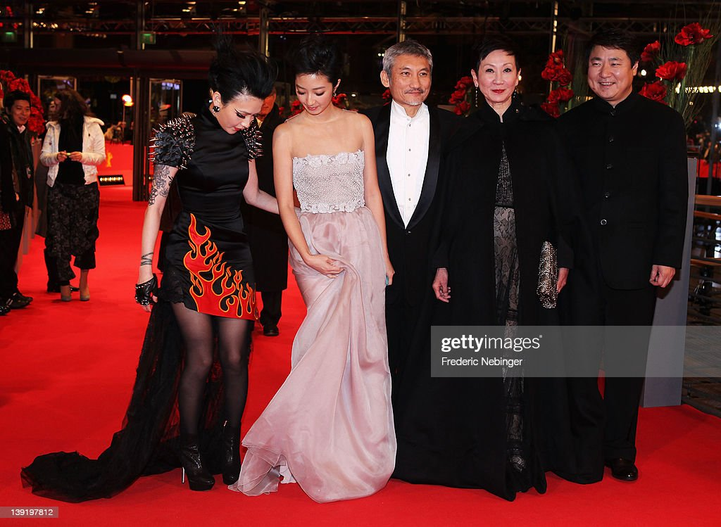 Actresses Fan Hsiao Shuan, Kwai Lun Mei, director Hark Tsui and producers Shi Nansun and Yu Dong attend the 'Flying Swords Of Dragon Gate' Premiere during day nine of the 62nd Berlin International Film Festival at the Berlinale Palast on February 17, 2012 in Berlin, Germany.