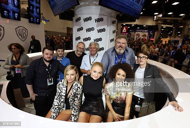 Actresses Faye Marsay Sophie Turner and Nathalie Emmanuel actors John Bradley Iwan Rheon Liam Cunningham Conleth Hill Kristian Nairn and Isaac...