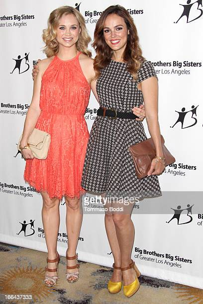 Actresses Fiona Gubelmann and Erin Cahill attend the Guild of Big Brothers Big Sisters of greater Los Angeles' annual accessories for success spring...