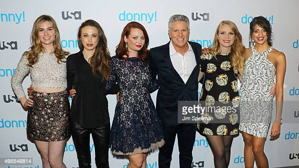 Actresses Fiona Robert Jessica Russell Hailey Giles advertising executive/TV personality Donny Deutsch actresses Emily Tarver and Meera Rohit...