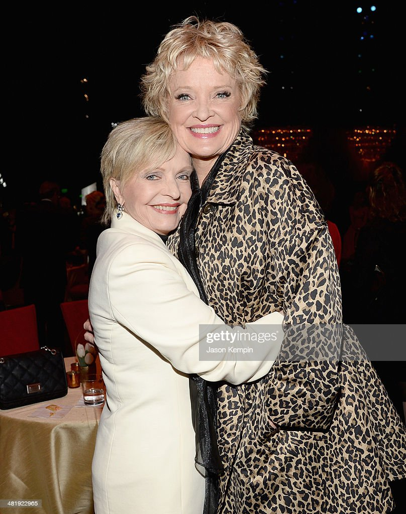 Actresses Florance Henderson (L) and <a gi-track='captionPersonalityLinkClicked' href=/galleries/search?phrase=Christine+Ebersole&family=editorial&specificpeople=214025 ng-click='$event.stopPropagation()'>Christine Ebersole</a> arrive at The Music Center's 50th Anniversary Launch Party held at The Dorothy Chandler Pavilion on April 1, 2014 in Los Angeles, California.