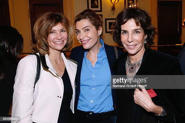 Actresses Florence Pernel and Daphne Roulier with writer Christine Orban attend the FrançoisXavier Demaison show 'Demaison S'Evade' Premiere at...